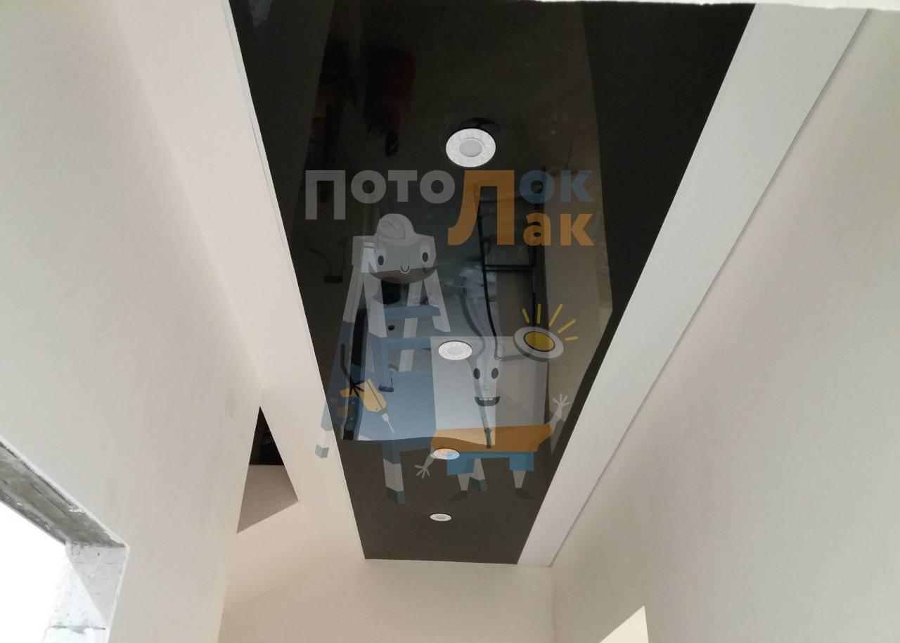 Натяжные потолки в коридор в Кемерово фото 8
