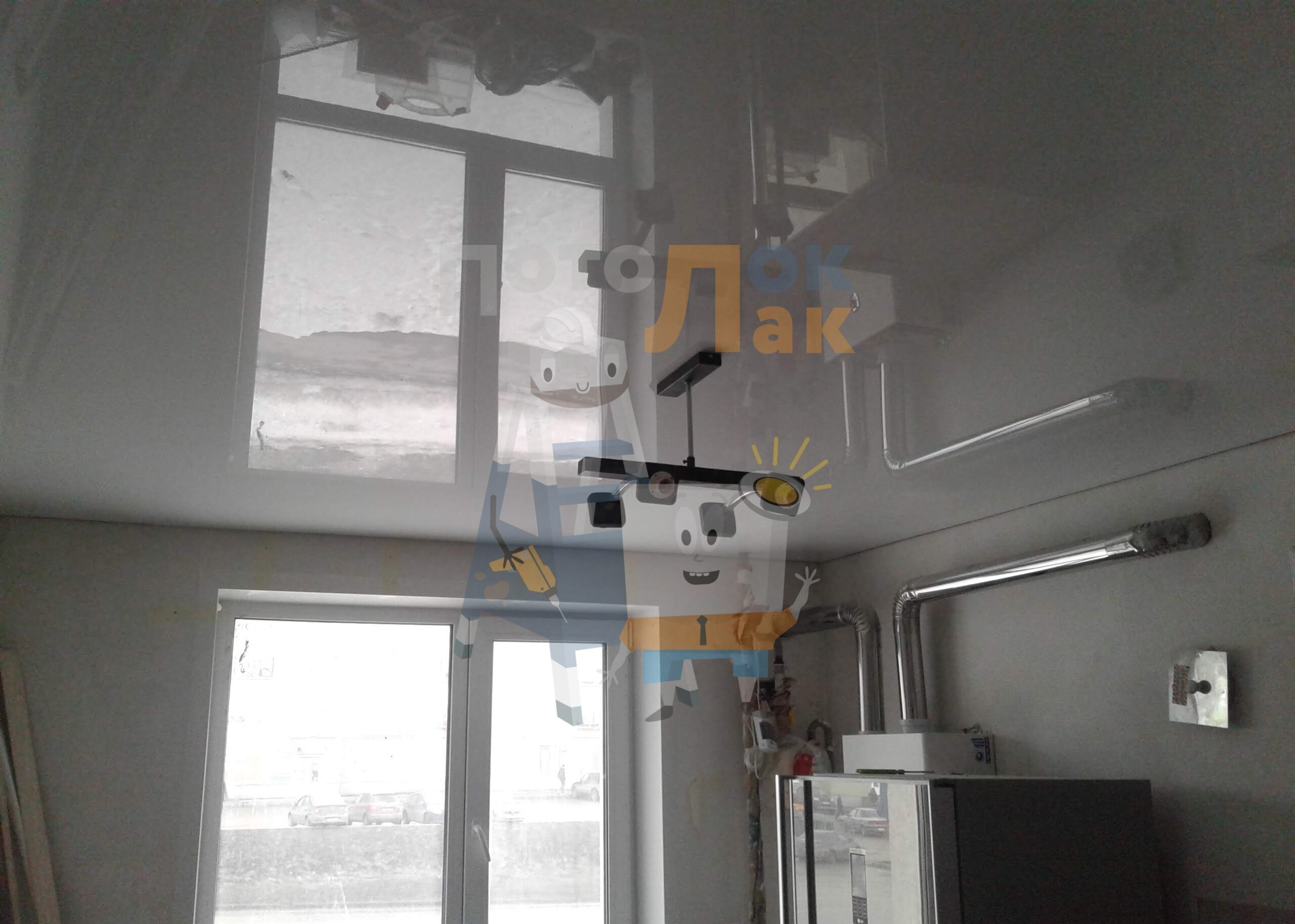 Глянцевые натяжные потолки в Кемерово фото 8