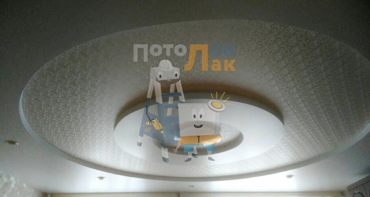 Сатиновые натяжные потолки в Кемерово фото 8