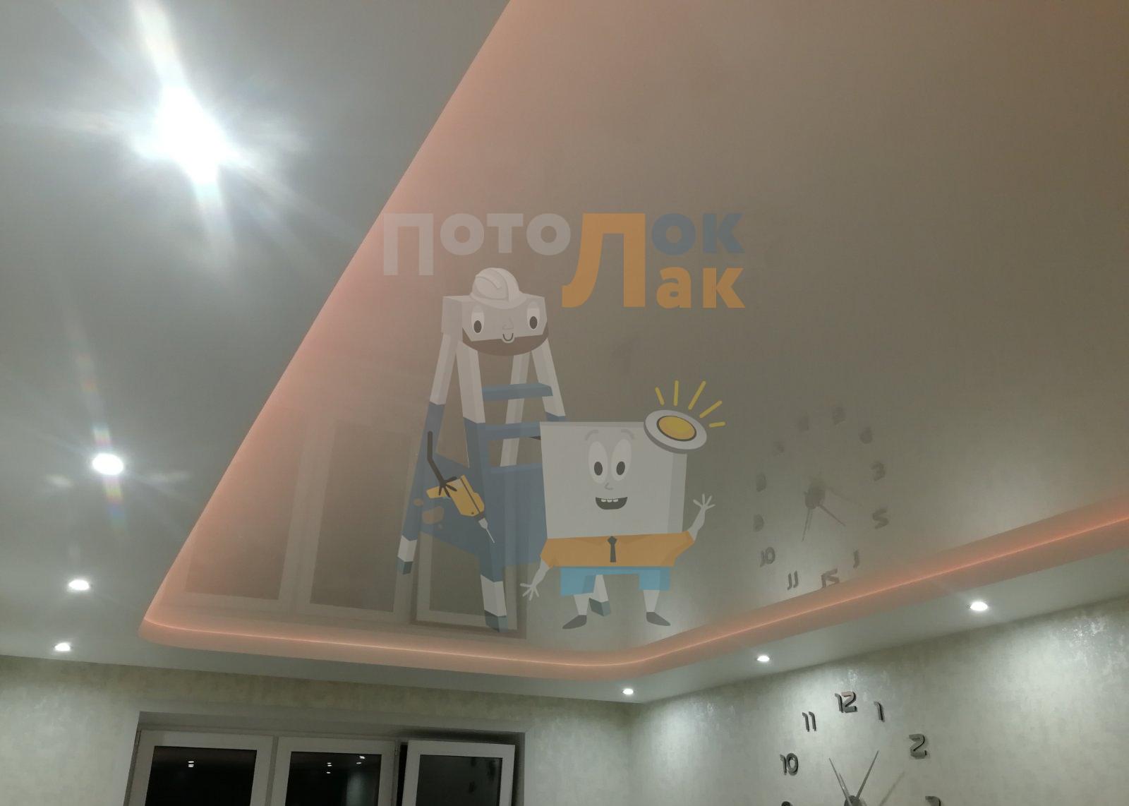 Натяжные потолки в гостиную в Кемерово фото 8